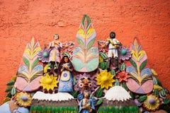 El arbol de la vida, trädet av liv, en aztec tradition Royaltyfria Bilder