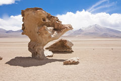 El Arbol de Piedra. A stone rock formation by erosion in the Bolivian desert Stock Photo