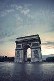 El Arc de Triomphe Foto de archivo libre de regalías