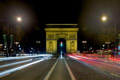 El Arc de Triomphe imagen de archivo libre de regalías