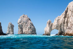 El Arco/Лос Arcos свод на землях кончается на Cabo San Lucas Baja Мексике Стоковое Изображение RF