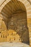El arco con las luces árabes Foto de archivo libre de regalías