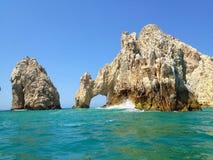 El Arco de Cabo San Lucas. Or Lands End, Baja California peninsula, Mexico. A unique group of rock formations is found near Los Cabos Corridor Stock Image