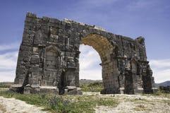 El arco de Caracalla en Volubilis Fotografía de archivo libre de regalías