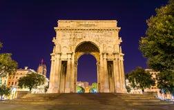 El arco de la victoria en Génova Imágenes de archivo libres de regalías