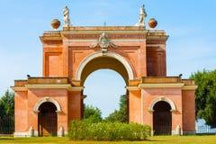 El arco de los cuatro vientos en Roma, Italia Imagen de archivo