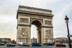 El arco de Triumph parís Imágenes de archivo libres de regalías