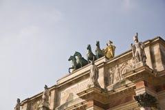 El arco del carrusel del triunfo imagenes de archivo