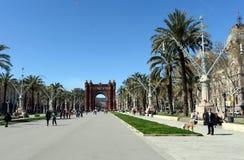 El Arco del Triunfo es un monumento en Barcelona Servido como la entrada principal de la expo 1888 del mundo fotos de archivo