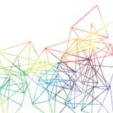 El arco iris abstracto alinea el contexto, dibujo de la acuarela del vector stock de ilustración