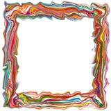 El arco iris abstracto curvó la línea de color de las rayas fondo del marco Fotografía de archivo libre de regalías