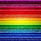 El arco iris abstracto del bosquejo raya colorido stock de ilustración