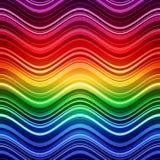 El arco iris abstracto raya el fondo colorido de las ondas stock de ilustración