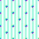 El arco iris adornado las Líneas Verdes verticales azules claras retras inconsútiles del diseño del fondo del vector del extracto Fotografía de archivo