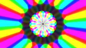 El arco iris agita el vídeo inconsútil del lazo ilustración del vector