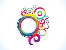 El arco iris artístico abstracto floral estalla Foto de archivo