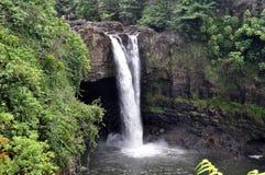 El arco iris cae (isla grande, Hawaii) Fotos de archivo libres de regalías