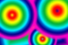El arco iris colorea el ejemplo abstracto del fondo de tres círculos Foto de archivo libre de regalías