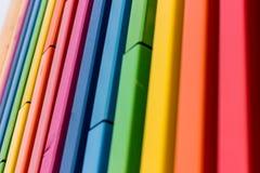 El arco iris colorea el detalle arquitectónico Imagenes de archivo
