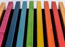 El arco iris colorea el detalle arquitectónico Imagen de archivo