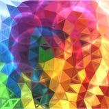 El arco iris colorea el fondo abstracto de los triángulos Imágenes de archivo libres de regalías