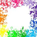 El arco iris colorea el fondo con el lugar para el texto Fotos de archivo