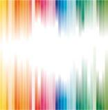 El arco iris colorea el fondo rayado para el folleto ilustración del vector