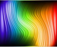 El arco iris colorea las lineas horizontales abstractas tarjeta Imagen de archivo libre de regalías