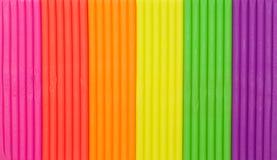 El arco iris colorea textura del plasticine Foto de archivo
