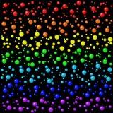 El arco iris coloreado burbujea fondo Imágenes de archivo libres de regalías