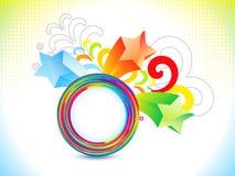 El arco iris colorido abstracto estalla libre illustration