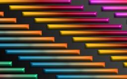 El arco iris colorido barra el fondo - papel pintado dimensional abstracto de las formas ilustración del vector