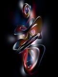 el arco iris colorido de la pintada abstracta 3D rinde negro Foto de archivo