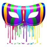 El arco iris de la máscara del carnaval colorea la pintura de goteo psicodélica libre illustration