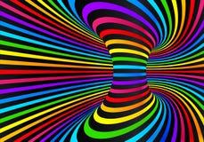 El arco iris de neón oscuro colorea el fondo abstracto del disco del vector libre illustration