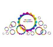 El arco iris geométrico abstracto circunda el fondo Fotografía de archivo libre de regalías