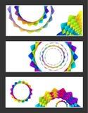 El arco iris geométrico florece la tarjeta libre illustration