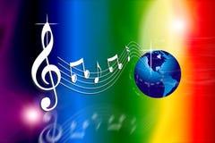 El arco iris hace el mundo de la música Foto de archivo