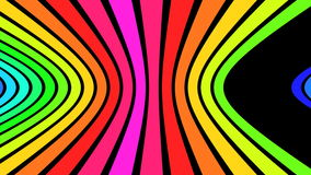 El arco iris horizontal pela V2 - 4K ultra HD stock de ilustración