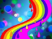El arco iris mancha los medios del fondo pintados y punteados Fotografía de archivo