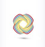 El arco iris swooshes logotipo del icono del negocio Imagenes de archivo