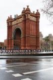 El arco triunfal en Barcelona Imagen de archivo libre de regalías