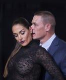 El arder Nikki Bella y John Cena Imágenes de archivo libres de regalías