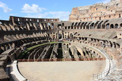 El arean de Colosseum en Roma foto de archivo