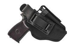 El arma en la pistolera Aislado fotografía de archivo libre de regalías