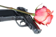 El arma y se levantó foto de archivo libre de regalías