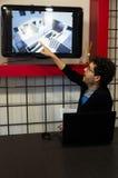 El arquitecto explica el proyecto Foto de archivo