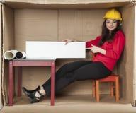 El arquitecto indica el anuncio Imagen de archivo libre de regalías
