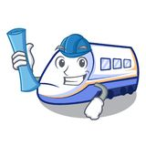 El arquitecto shinkansen el transporte del tren en caracteres de la forma ilustración del vector