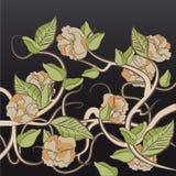 El arreglo del té de las flores subió Imagenes de archivo